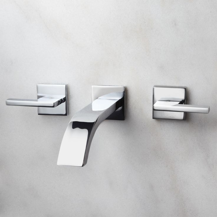 Good Ultra Wall Mount Bathroom Faucet   Lever Handles