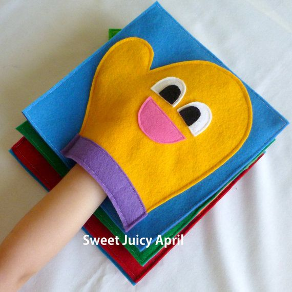 Hand Glove Mitt Quiet Book Page by SweetJuicyApril on Etsy