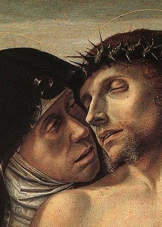 "Detail ""Pieta"" Giovanni Bellini (1460) Pinacoteca di Brera, Milan"