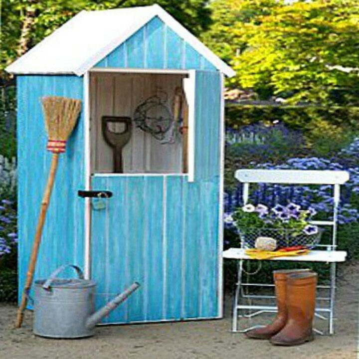 Cute garden shed garden projects pinterest jardins for Garden shed jokes