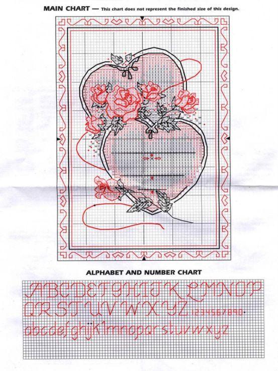 Схема вышивка открытка на свадьбу, ночи открытку