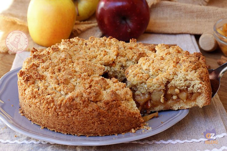 Apple and cinnamon CRUMBLE - SBRICIOLATA DI MELE e cannella ricetta torta facile veloce