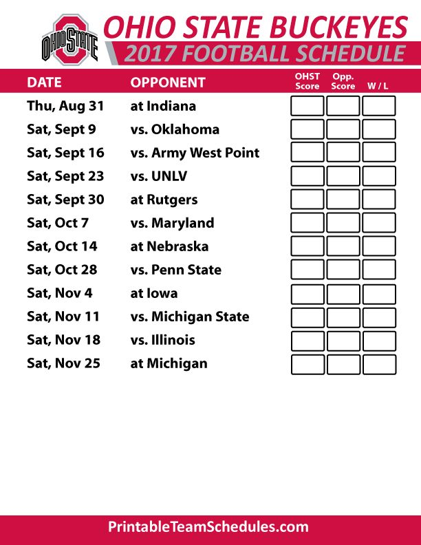 It's just a graphic of Lively Ohio State Football Schedule Printable