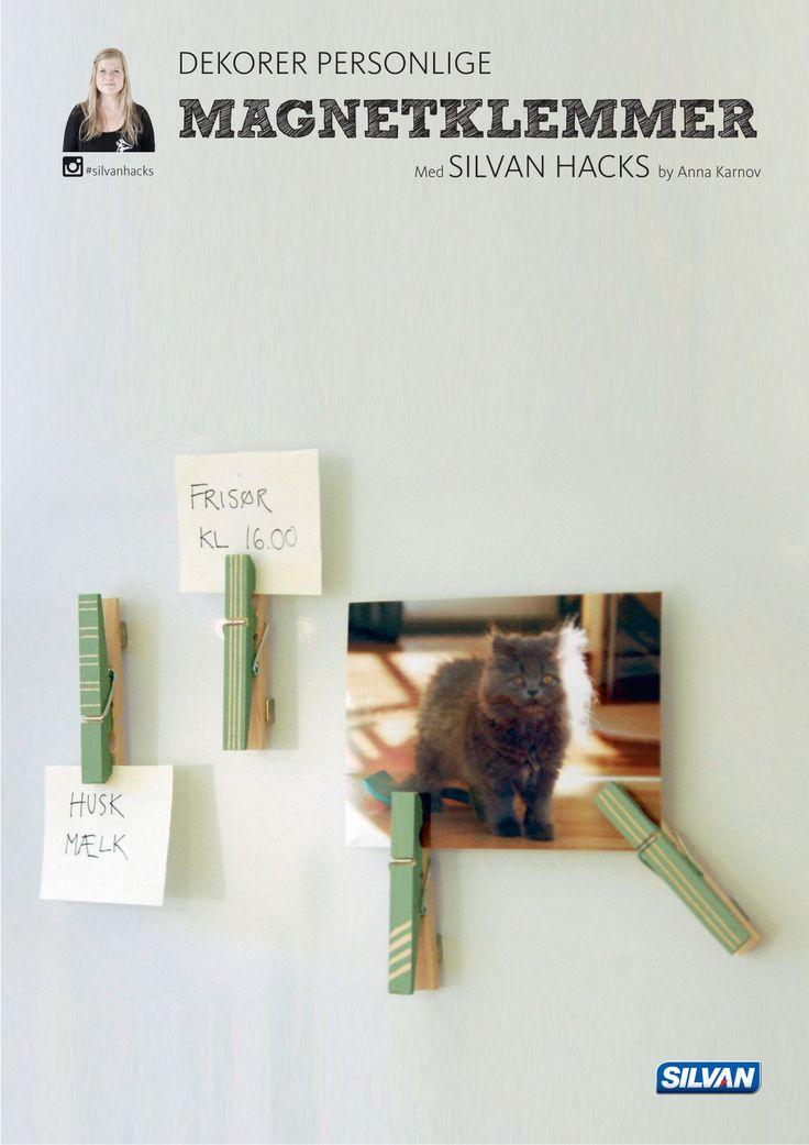 Dekorer personlige MAGNETKLEMMER - med Silvan Hacks af Anna Karnov