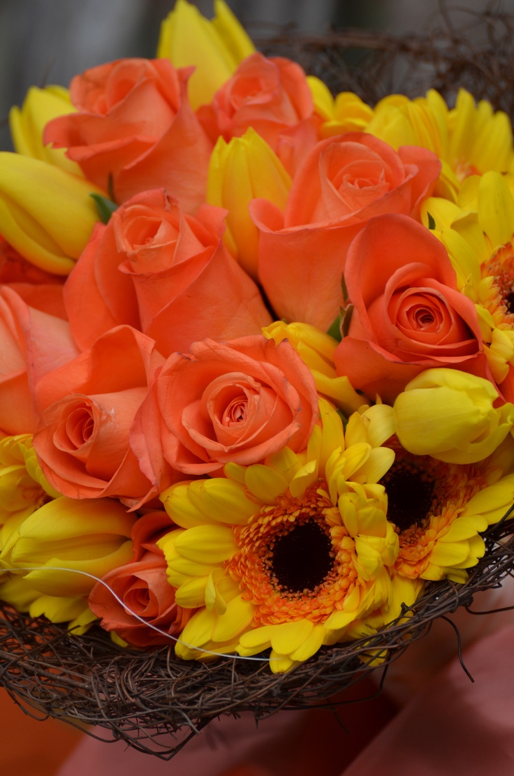 17 best images about bouquet chic orange and yellow for Bouquet chic