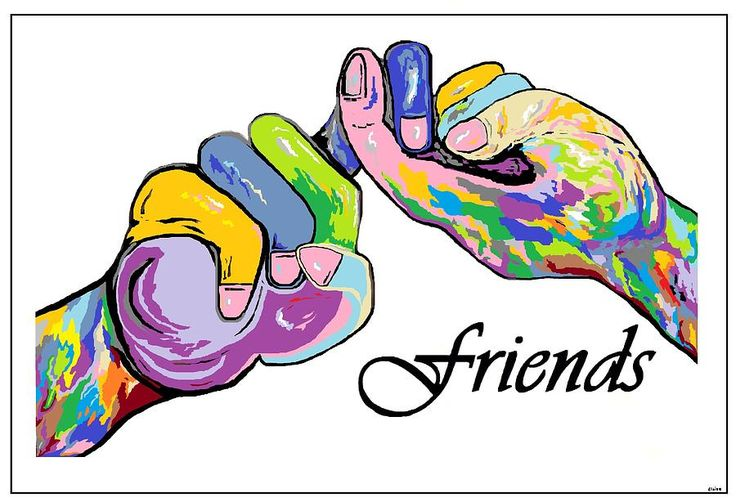 Friends . . . An American Sign Language Painting Painting by ...
