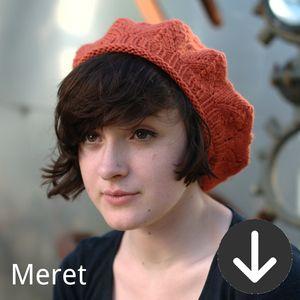 free Meret beret knitting pattern