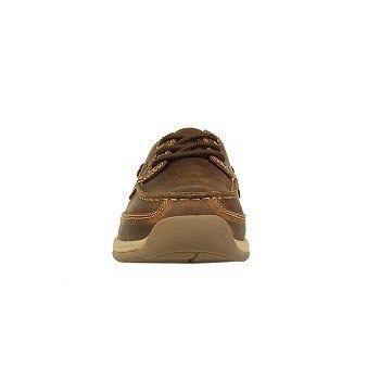 Rockport Works Men's Sailing Club Medium/Wide Steel Toe Boat Shoes (Brown) - 12.0 W