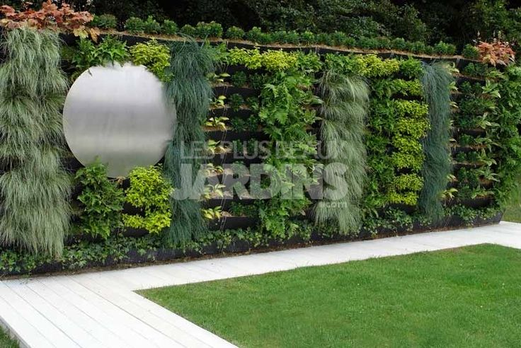 Les 20 meilleures images propos de terrasse sur pinterest pots design et - Decoration mur exterieur jardin ...