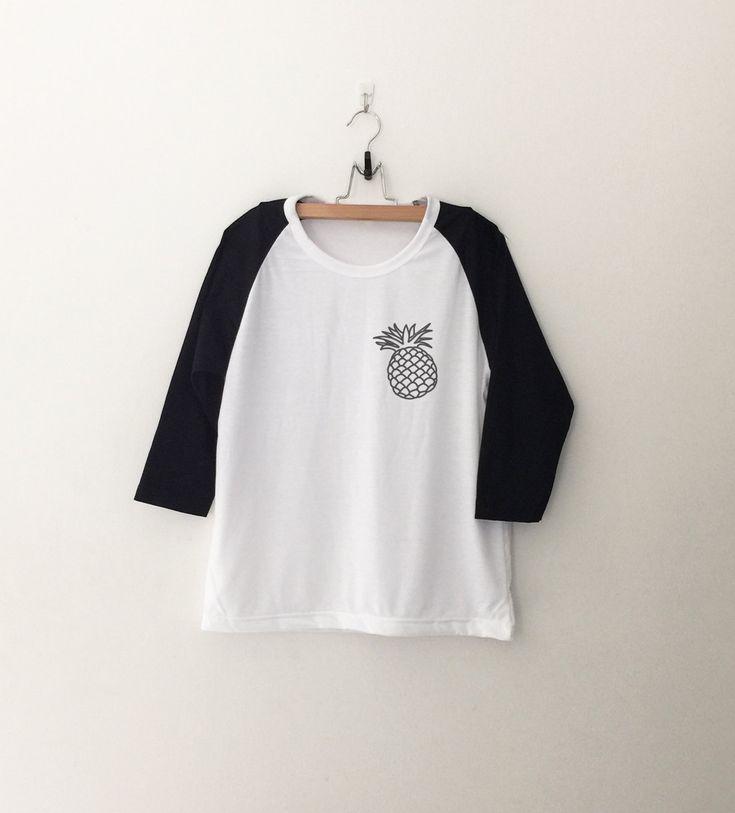 Pineapple Shirt Tumblr Pocket Tee Shirts Teen Hipster Instagram Shirt Graphic…