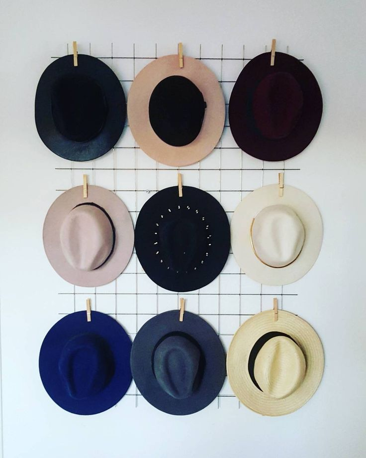 This is how I keep my little hat family together:) #hats #hatfreak