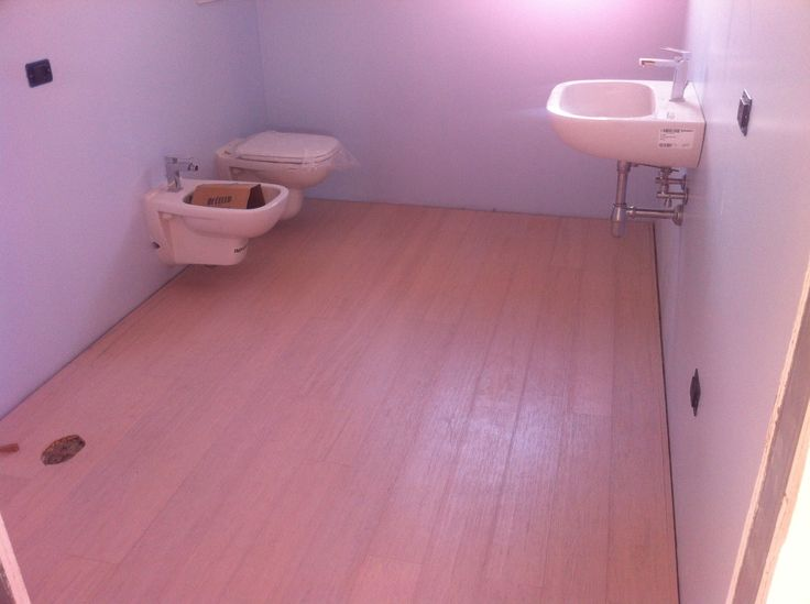 White bamboo in bathroom