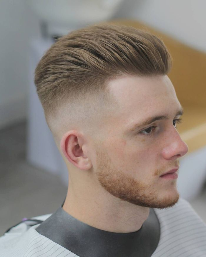 35 Simple But Trendy Short Blonde Haircut For Men High And Tight