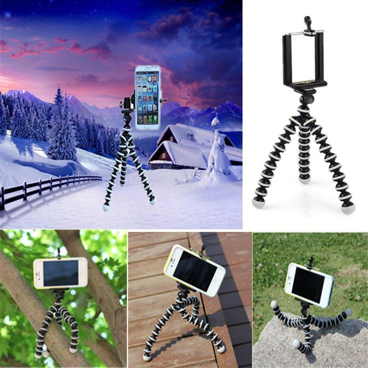 For Apple iPhone 4 4S/ 5 5S/ 6/6 Plus GALAXY S4 GALAXY Note2, GALAXY Note3 Octopus Mini Flexible Tripod Stand Mount Holder
