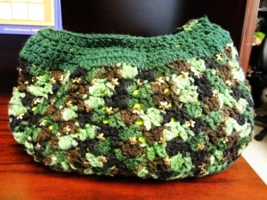 Hand stitched wool purse, available in Emerald.   www.epicmart.ca