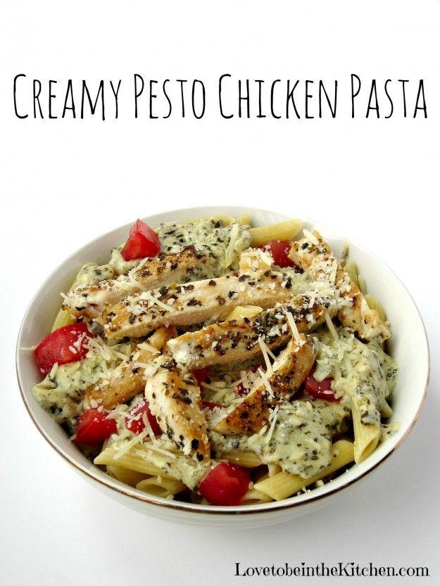 Creamy Pesto Pasta on Pinterest | Pesto, Pesto Pasta Salad and Pesto ...