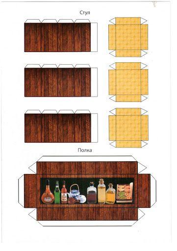 Мебель для барби своими руками из картона фото 333