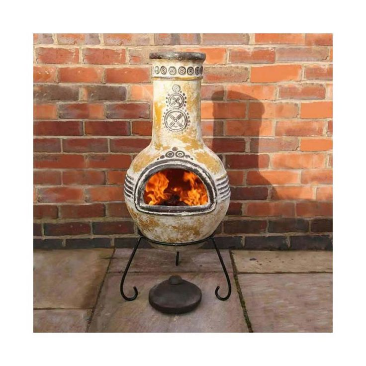 Portrayal of Lit Your Outdoor Space Nuance with Chiminea Fire Pit for Stylish Warmer