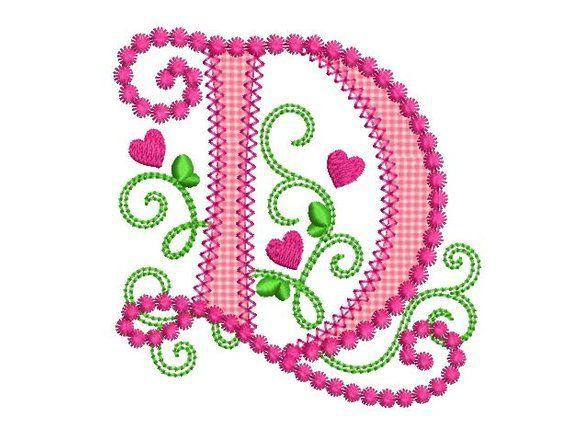 Letter D Applique Machine Embroidery Design Monogram Initials Etsy Machine Embroidery Designs Monogram Embroidery Designs Machine Embroidery Designs