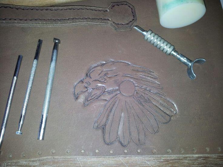 Ters designing his rifle bag