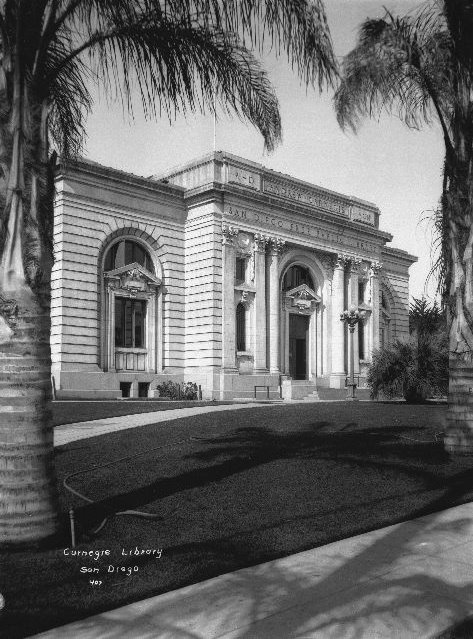 1000+ images about Vintage San Diego on Pinterest | The ... Andrew Carnegie Library