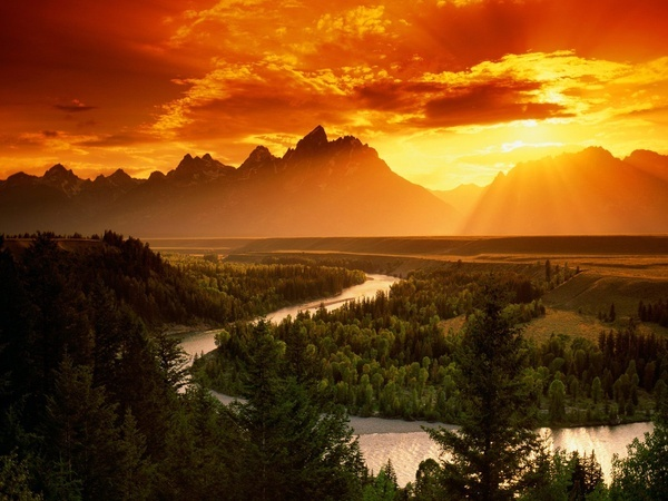 Yellowstone National Park - wow, if this isn't beatiful I don't know what is! Really one of the wonders of the world