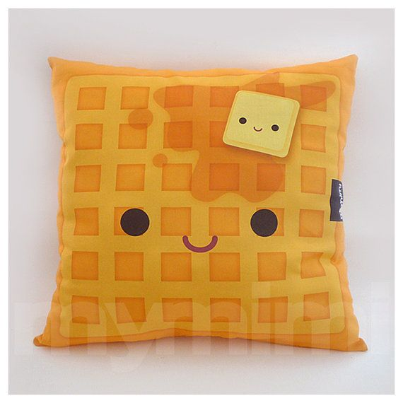16 X 16 Quot Decorative Pillow Waffle Pillow Breakfast Food