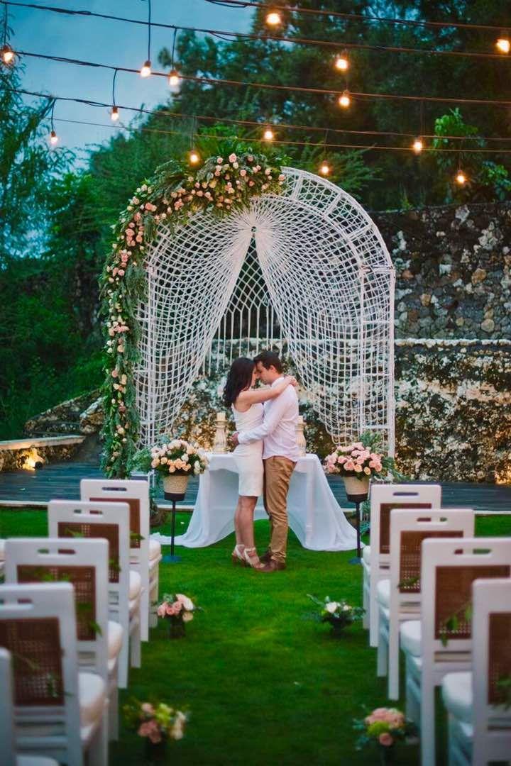 Beautiful setting for a Bali destination wedding.