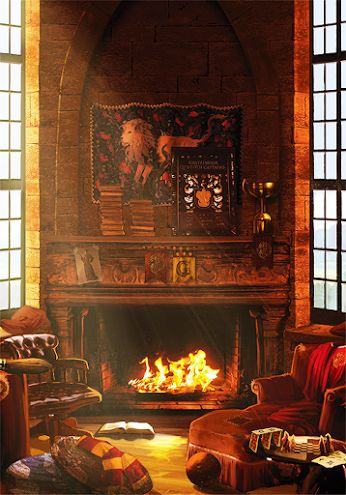 """I sit in front of the fire and read Quidditch Through The Ages. It really was quite fascinating. Someone sits next to me on the couch and whispers,""""Hello.""""(GRYFINDOR ONLY)"""