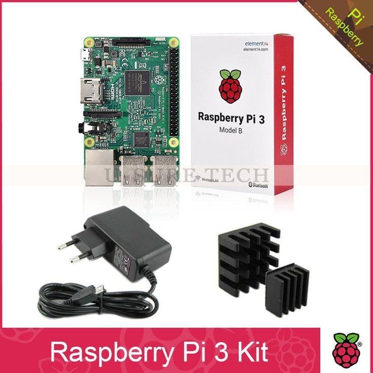 Raspberry Pi 3 Model B Board + 5V 2.5A Power Adapter Supply Charger EU AU US UK+Heat Sinks