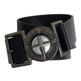 STONE ISLAND Black Compass Belt £134.95