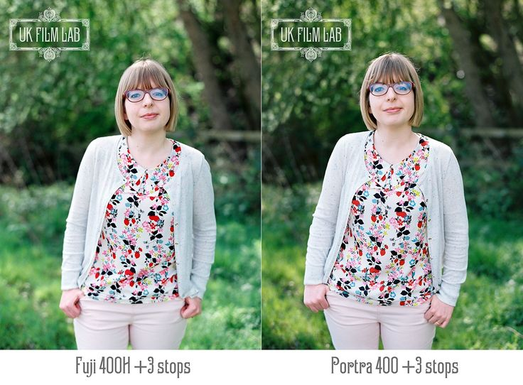 UK Film Lab Kodak Portra 400 and Fuji 400H film stock comparisons