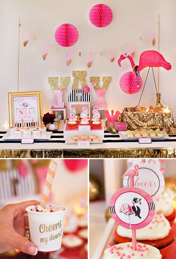 flamingo fiesta girls night in part 2 crafting u0026 desserts flamingo baby showerpink