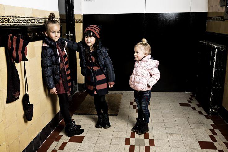 Winter jacket Brea | Longsleeve Bountiful & Skirt Bowie | Jeans Bradley | Hat Bothell & Gloves Boone & Scarf Bow | Noppies kids Fall/Winter 2016 collection | #noppies #kidsfashion #winterwear #kidswear #coolkids #girls #skirt #newcollection #wintercoat #scarf #fallwinter #kids #fw15