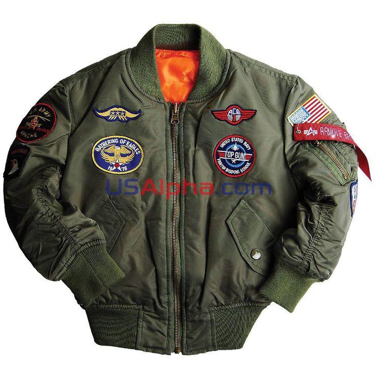 Детская куртка МА-1 с нашивками #аляска #парка #детская куртка #демисезонная куртка #детям #мода #alpha #usalpha.com