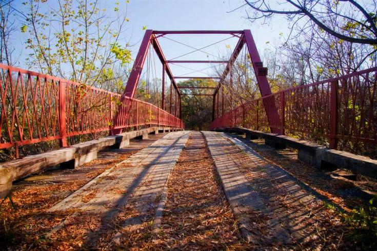 """Old Alton Bridge (aka """"Goatman's Bridge"""")  Denton, TX"""