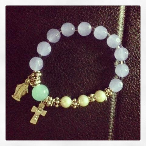 DIY Rosary Bracelet project on Craftsy.com