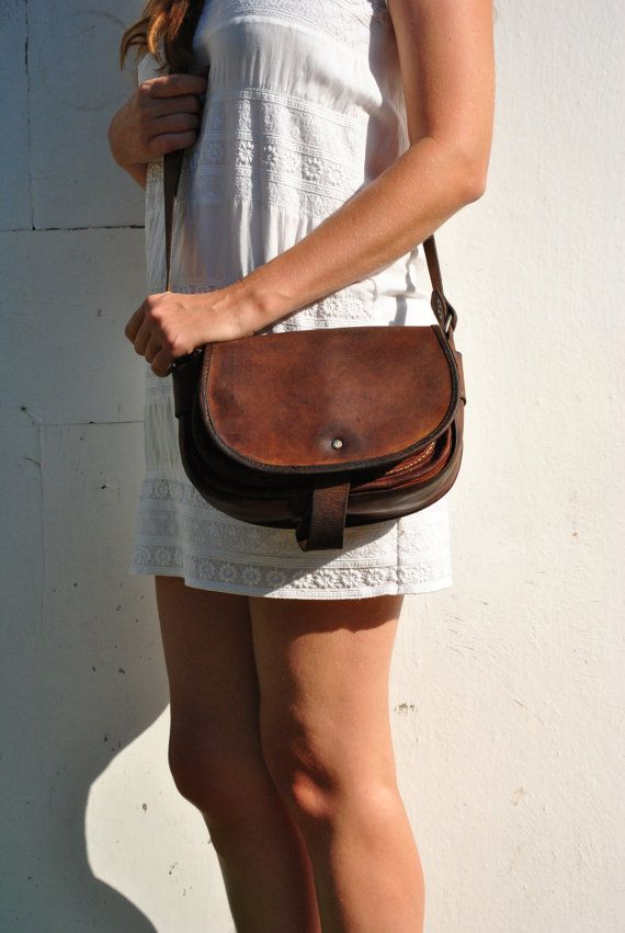Leather bag vintage leather bag vintage womens by BalthazarVintage