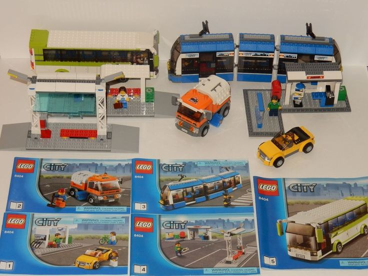Lego City Public Transport Station #8404 Complete w/ Manuals #LEGO