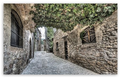 Streets of Mura Catalonia wallpaper