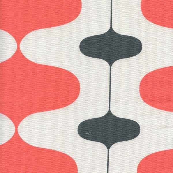 Ivon Salmon Charcoal Contemporary Drapery Fabric by Premier Prints - 53629 | BuyFabrics.com