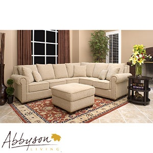 Broyhill Sofa Monte Carlo piece Fabric Sectional and Ottoman Costco