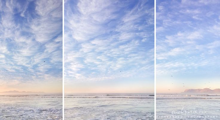 Softly at Sunrise (Triptych)