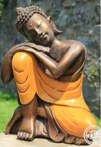 """""""Some people believe holding on and hanging in there are signs of great strength. However, there are times when it takes much more strength to know when to let go and then do it.""""    ~  Ann Landers  Fairtrade Hand Painted Amber Resin Resting Thai Buddha Statue   <3 lis"""