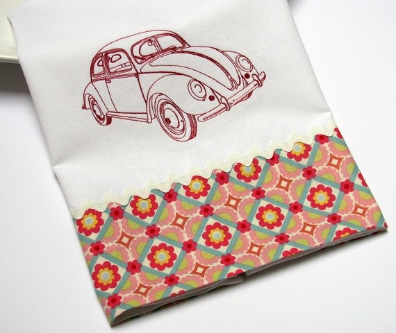 volkswagon bug tea towel