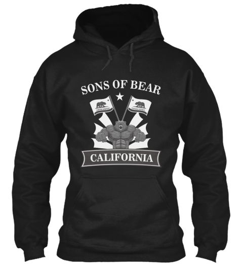 Sons Of Bear California Black Sweatshirt Front