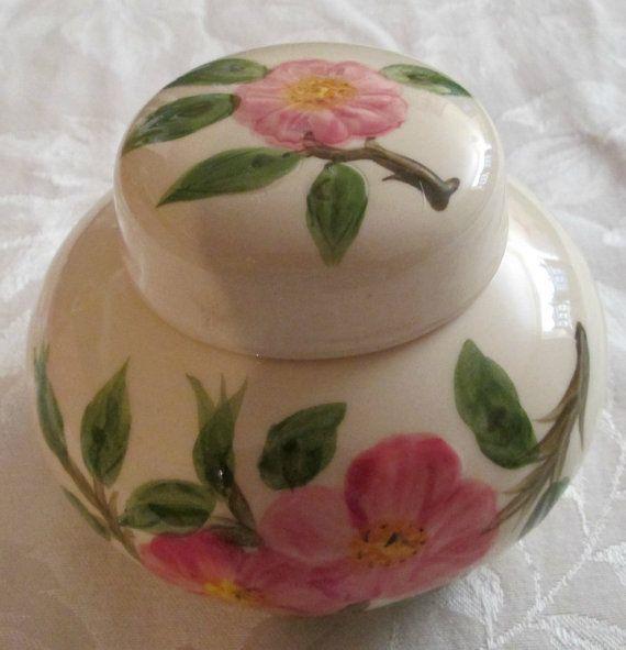 Rare Franciscan Ware Desert Rose Ginger Jar, Made in USA