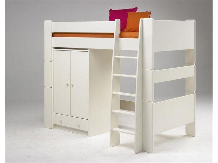 Muffy Wäscheschrank  Wenn der Platz knapp ist oder zwei Kinder sich ein Zimmer teilen müssen ist ein Hochbett immer eine gute Idee. Dank der verschiedenen Materialien, Farben und Designs lässt sich das... #kinder #kinderzimmer #kleiderschrank