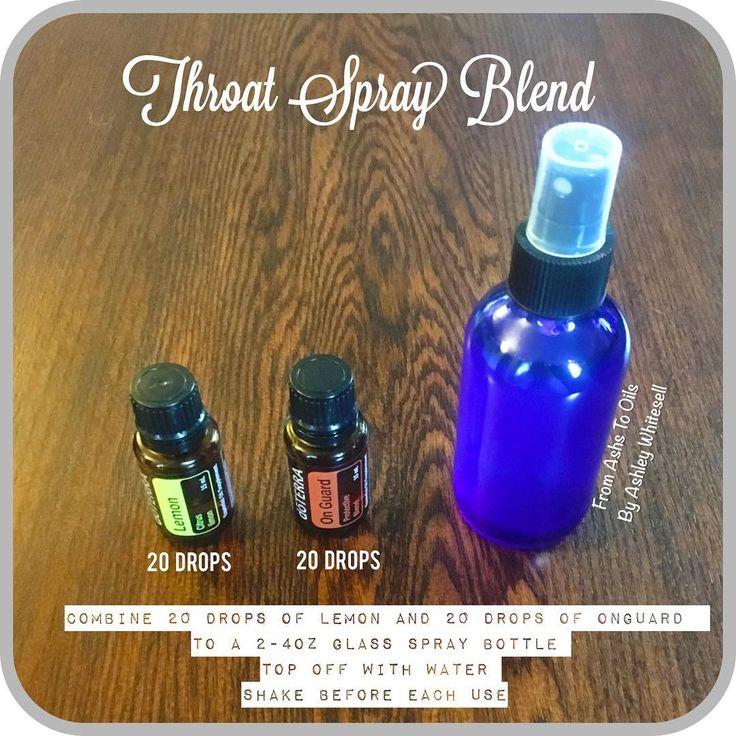 DIY Throat Spray  Follow me on Instagram: https://www.instagram.com/fromashstooilsbyashley/                                                              Order your oils at: http://mydoterra.com/teamwhitesell