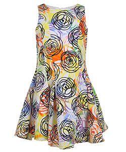 """Dorissa Big Girls' """"Textured Watercolor"""" Dress (Sizes 7 – 16) - CookiesKids.com"""